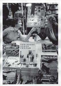 Nancy Wood at book signing with Ann Zwinger, 1978