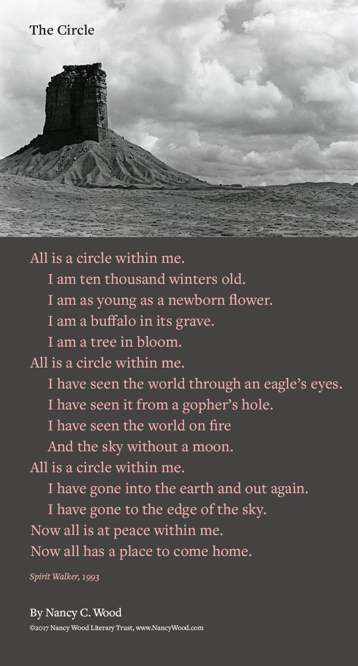 Nancy Wood poem poster 19: The Circle