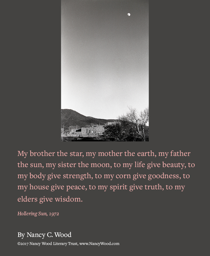 Nancy Wood poem poster 4: My brother the star