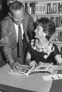 Nancy Wood book signing with Myron Wood, 1963