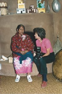 Nancy with Taos Pueblo resident, circa 1985