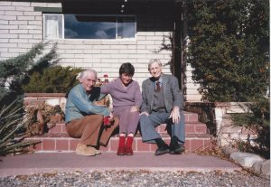 John Collier, Jr. and Russel Lee, famed photographers of Great Depression, and Nancy Wood, circa 1985