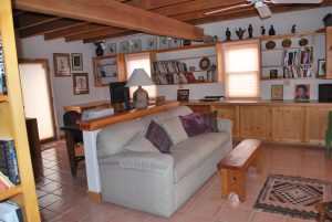 Interior of Nancy's writing studio