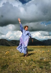 Nancy Wood dancing on Independence Pass, CO