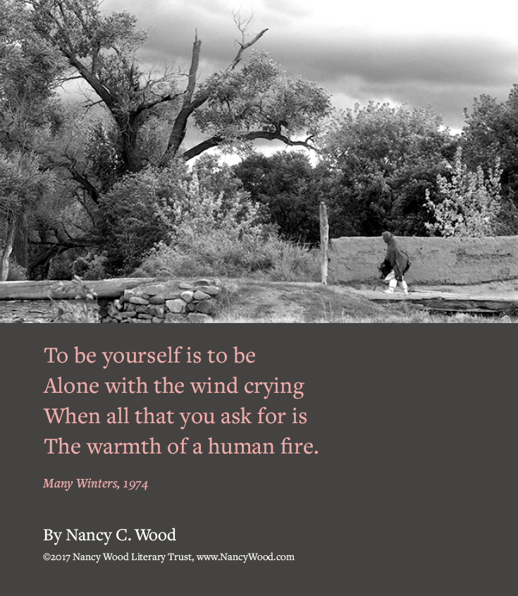 Nancy Wood poem poster 12: To be yourself is to be