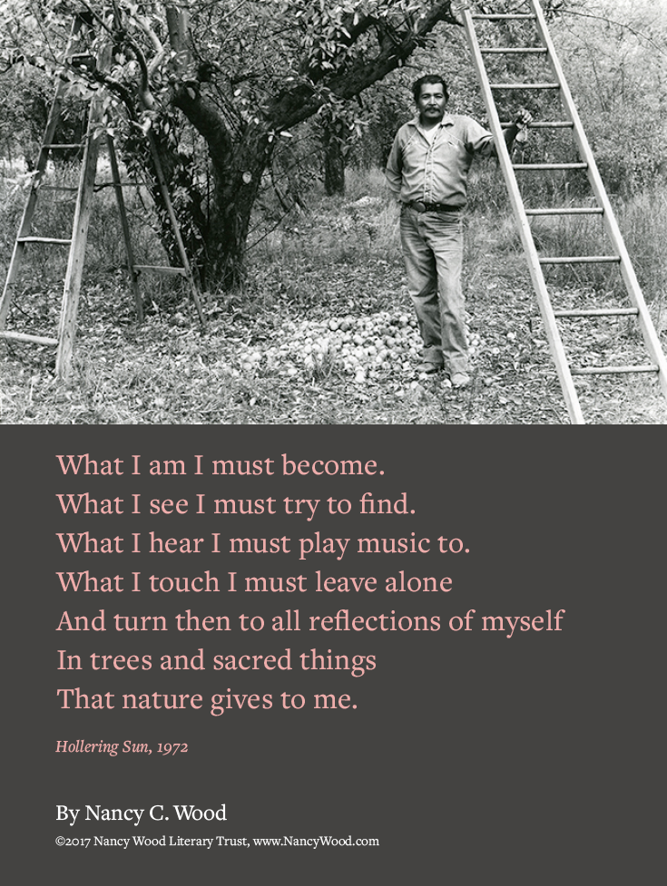 Nancy Wood poem poster 13: What I am I must become