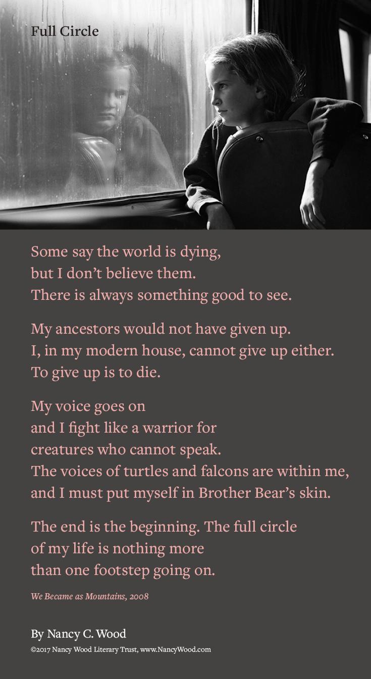 Nancy Wood poem poster 18: Full Circle