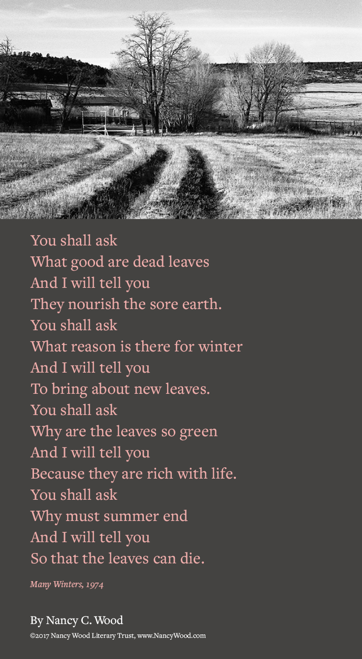Nancy Wood poem poster 3: You shall ask