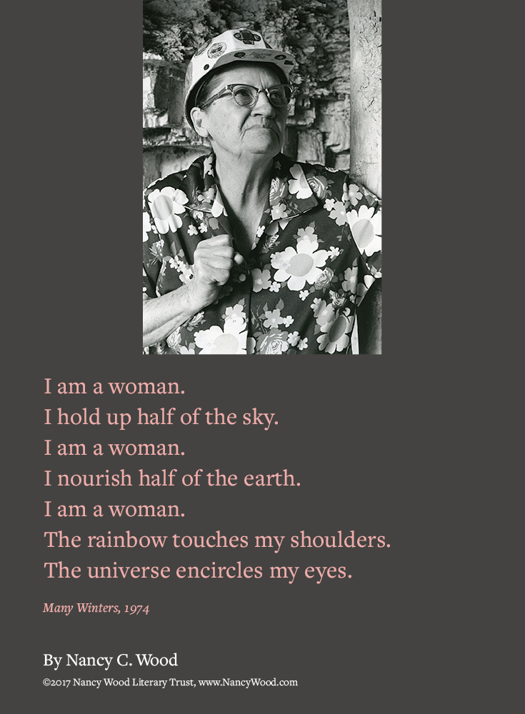Nancy Wood poem poster 6: I am a woman