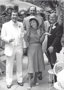 Nancy with her three husbands Oscar, John, and Myron, 1981