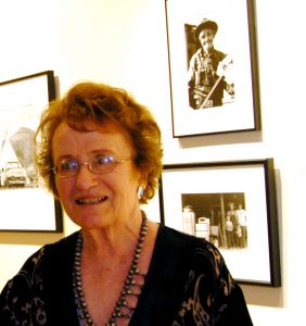 Nancy at retrospective show of her photographs at Gerald Peters Gallery, 2010